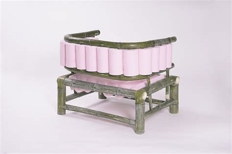 bamboo furniture designboom tadeas podracky personal bamboo sofa