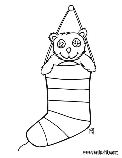 coloring page socks