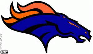 bronco colors denver broncos helmet coloring page