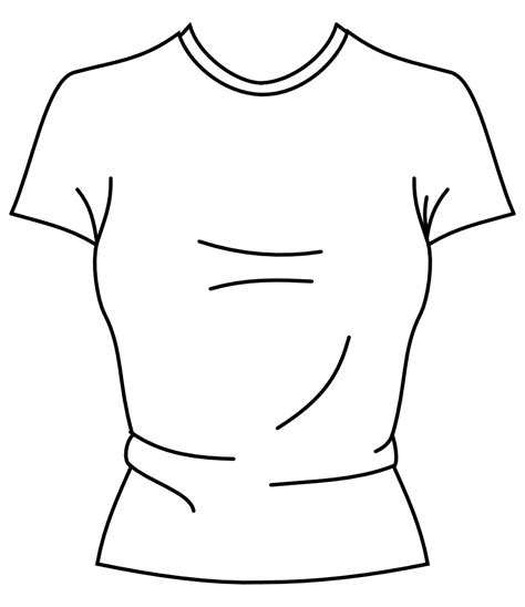 t shirt pattern to color free coloring pages of blank t shirt