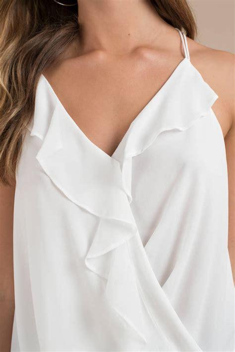 Nancy Blouse nancy white ruffle blouse 50 tobi us