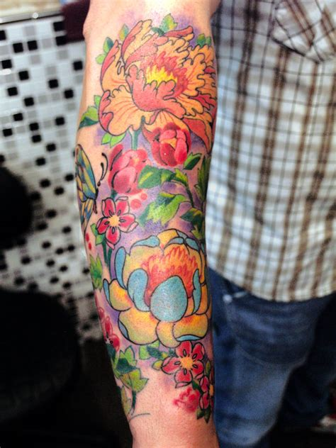 Japanese flower tattoos designs and ideas