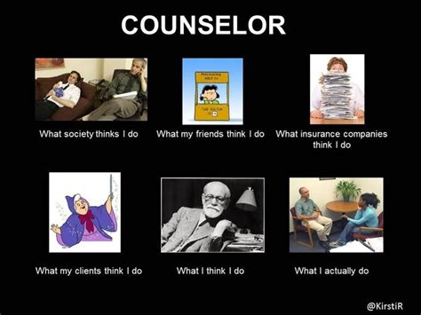 Therapist Meme - what people think i do as a counselor psychotherapy