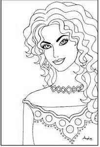 stunning woman coloring page crayon action coloring pages
