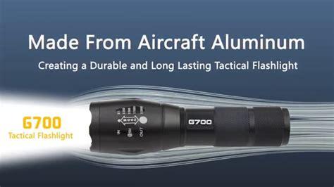 military grade tactical g700 flashlight drzeke recherche lumitact tactical g700 best tactical military flashlight