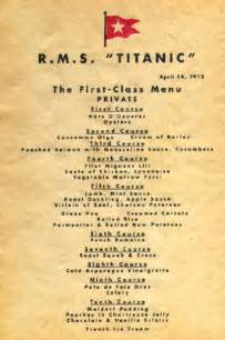 titanic third class menu ebl titanic recipes the passengers and crew ate well