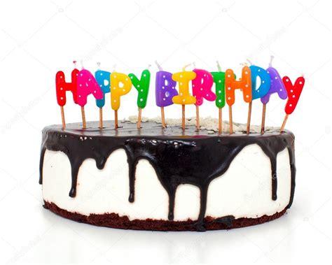 torta con candele torta con le candele buon compleanno foto stock
