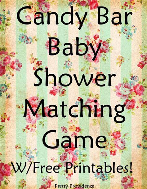 Bar Matching Baby Shower bar matching baby shower w free printables