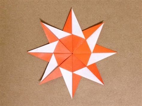How To Make A Sun Out Of Paper - 簡単折り紙 太陽の折り方 origami sun easy