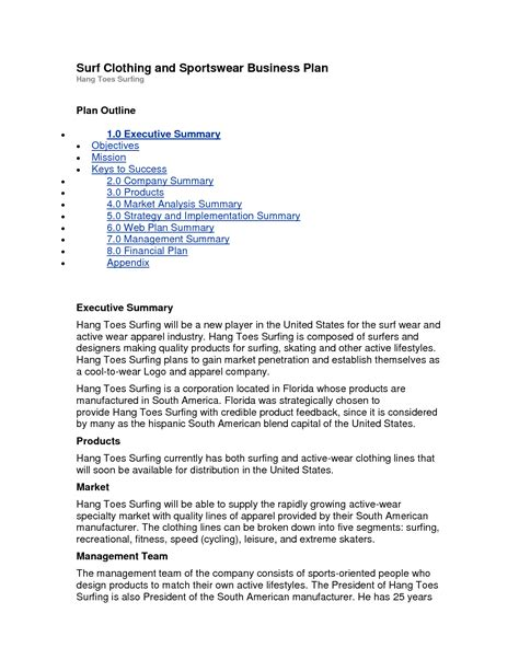 boutique business plan template 8 free word excel pdf clothing business plan template line business plan