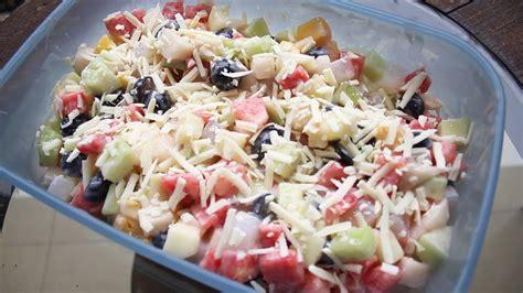 cara membuat lumpia salad buah resep fruit salad salad buah youtube