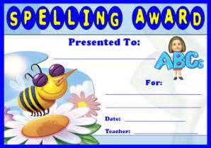 Spelling Bee Award Certificate Template by Award Certificates