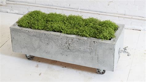 concrete planters diy concrete planter episode 16 homemade modern doovi