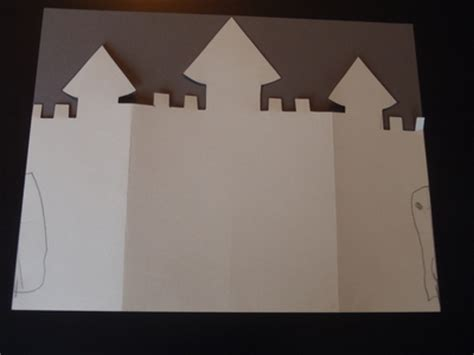 castle card template castle card my kid craft