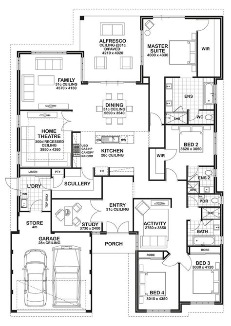 4 bedroom plus office house plans fascinating 4 bedroom plus office house plans gallery