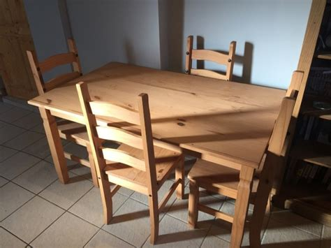 solid wood kitchen table and chairs for sale in killucan