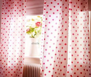 White Curtains With Pink Polka Dots ikea gronska prickar curtains cerise white pink polka dots