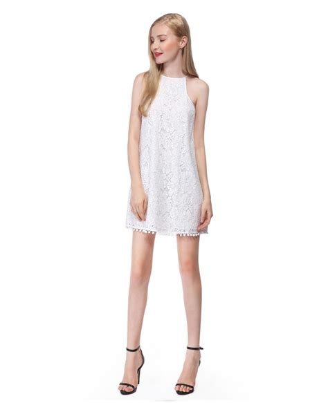 Lace Halter Style Dress 21902 white a line halter lace dress as05688cr 34 6