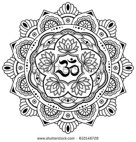 imagenes mandalas yoga circular pattern in the form of a mandala vector henna