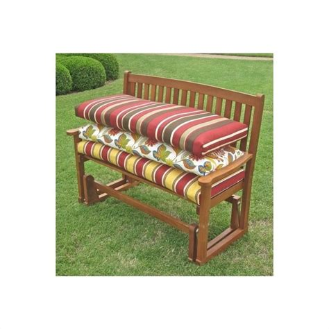 bench swing cushion 93450lv45wsolreos2av blazing needles solid 4 patio bench