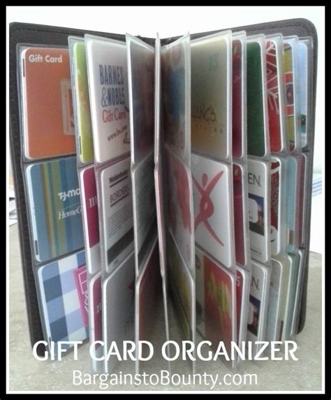 Gift Card Storage - gift card organizer an easy way to corral your gift card collection bargains to bounty