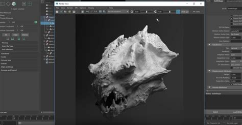 zbrush tutorial view window displacements from zbrush to arnold 3dart