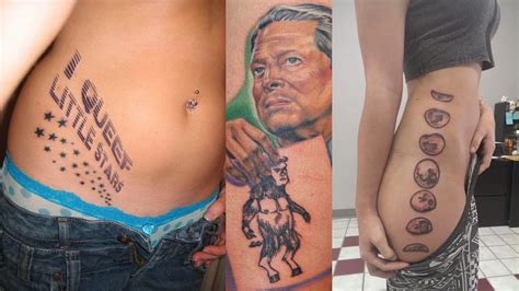 tattoo pictures on youtube tattoos gone wrong worst tattoos ever youtube hot girls