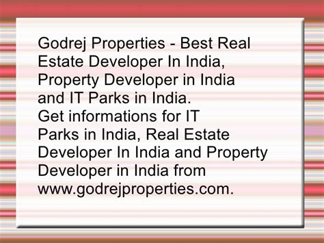 Mba In Real Estate Management In India by Real Estate Developer In India Property Developer In