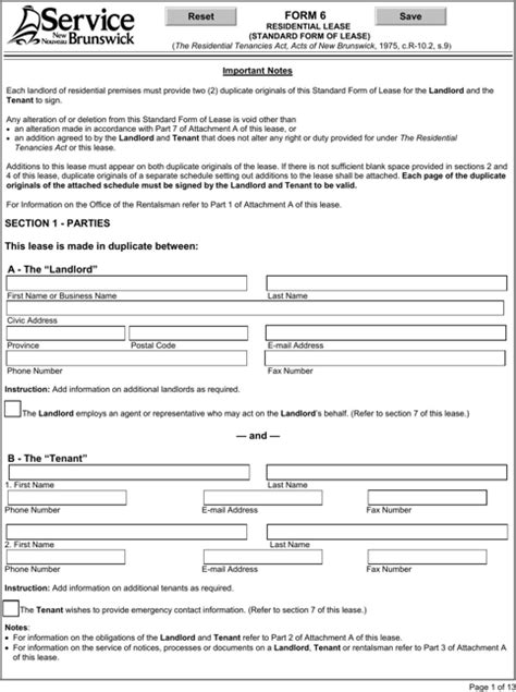 18015 sle rental application form bill of form