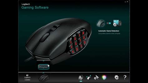 Mouse Gaming Logitech G600 logitech g600 mmo gaming mouse software drivers