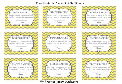 printable diaper raffle coupons free printable diaper raffle tickets my practical baby