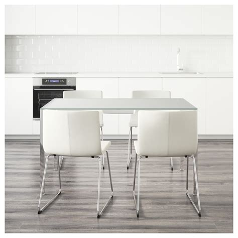 Ikea Glass Kitchen Table Torsby Bernhard Table And 4 Chairs Glass White Kavat White 135 Cm Ikea