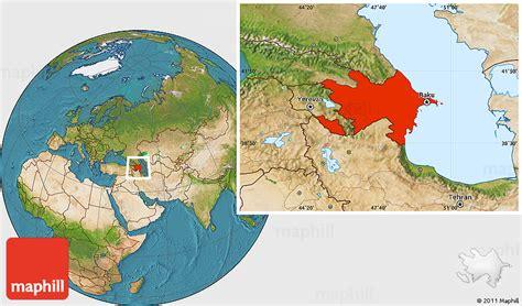 where is azerbaijan on a world map satellite location map of azerbaijan