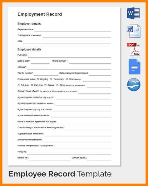 6 Individual Payroll Record Template Pay Stub Format Individual Payroll Record Template