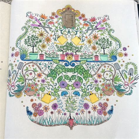 secret garden colouring book coloured in coloring books by johanna basford 16 hertz