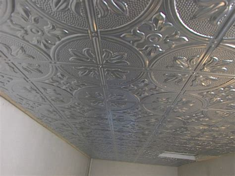 how to tile a ceiling how to install a sted tin ceiling how tos diy