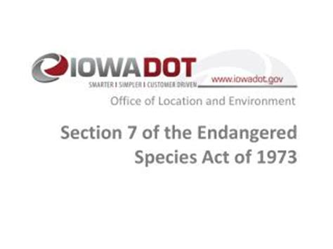 section 7 endangered species act ppt endangered species act of 1973 1982 1985 and 1988