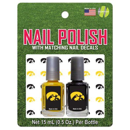of iowa colors of iowa nail team colors and nail decals