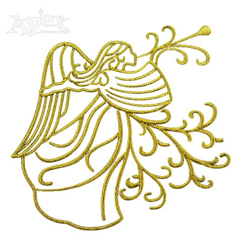 embroidery design angel angel horn embroidery design