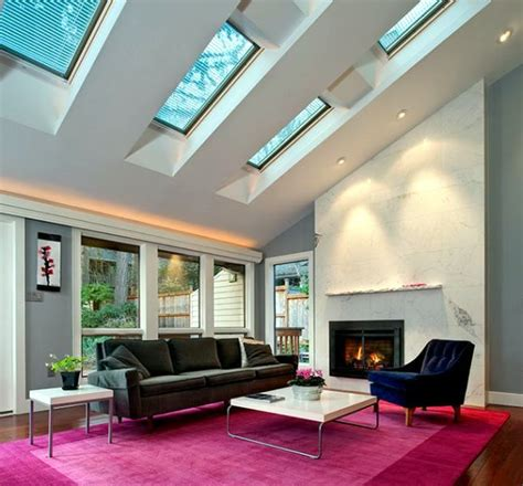 Modern Living Room Ideas installing skylights and the stars look advantages and