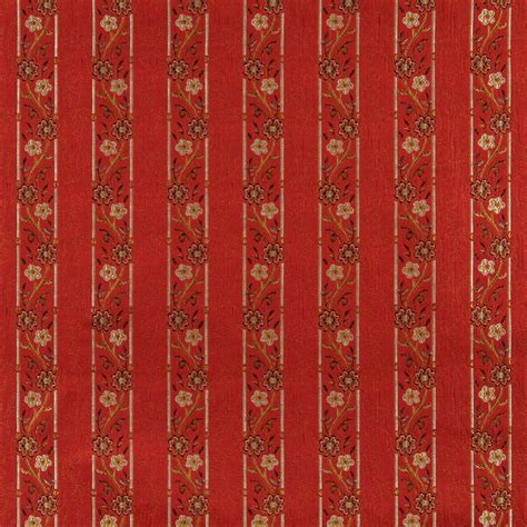red floral upholstery fabric a0013g red brown gold and ivory floral brocade