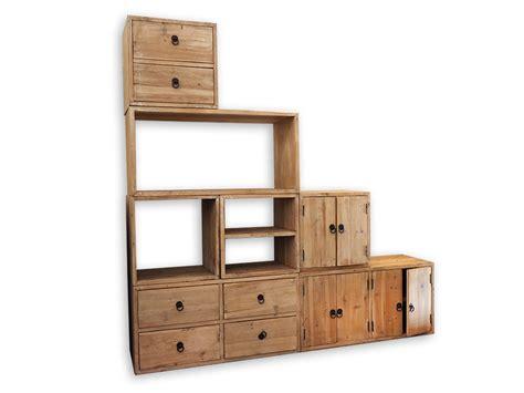 mobile componibile mobile componibile legno riciclato nuovimondi