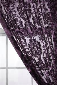 damask velvet burnout curtain