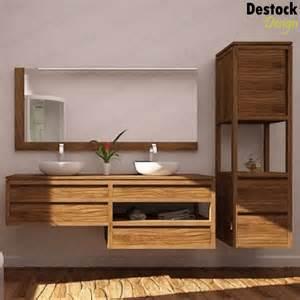 meuble salle de bain bois vasque mzaol
