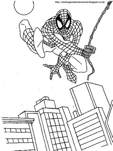 Gambar Mewarnai Spider Man Untuk Anak PAUD dan TK