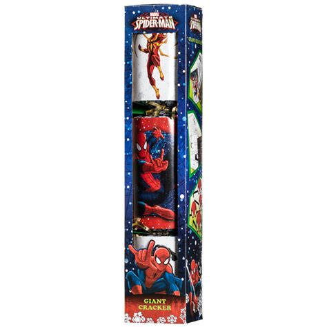 ultimate spider man giant christmas cracker crackers b m