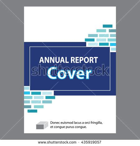 layout of cover page of a report blue annual report title page sle stock vector