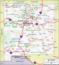 new mexico pet friendly road map by 1click