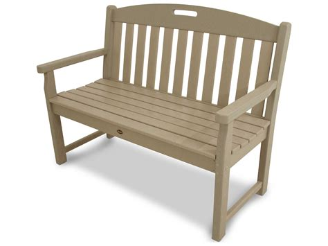 trex benches trex 174 yacht club recycled plastic 48 bench txb48
