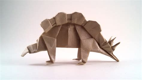 real origami origami stegosaurus gilad s origami page